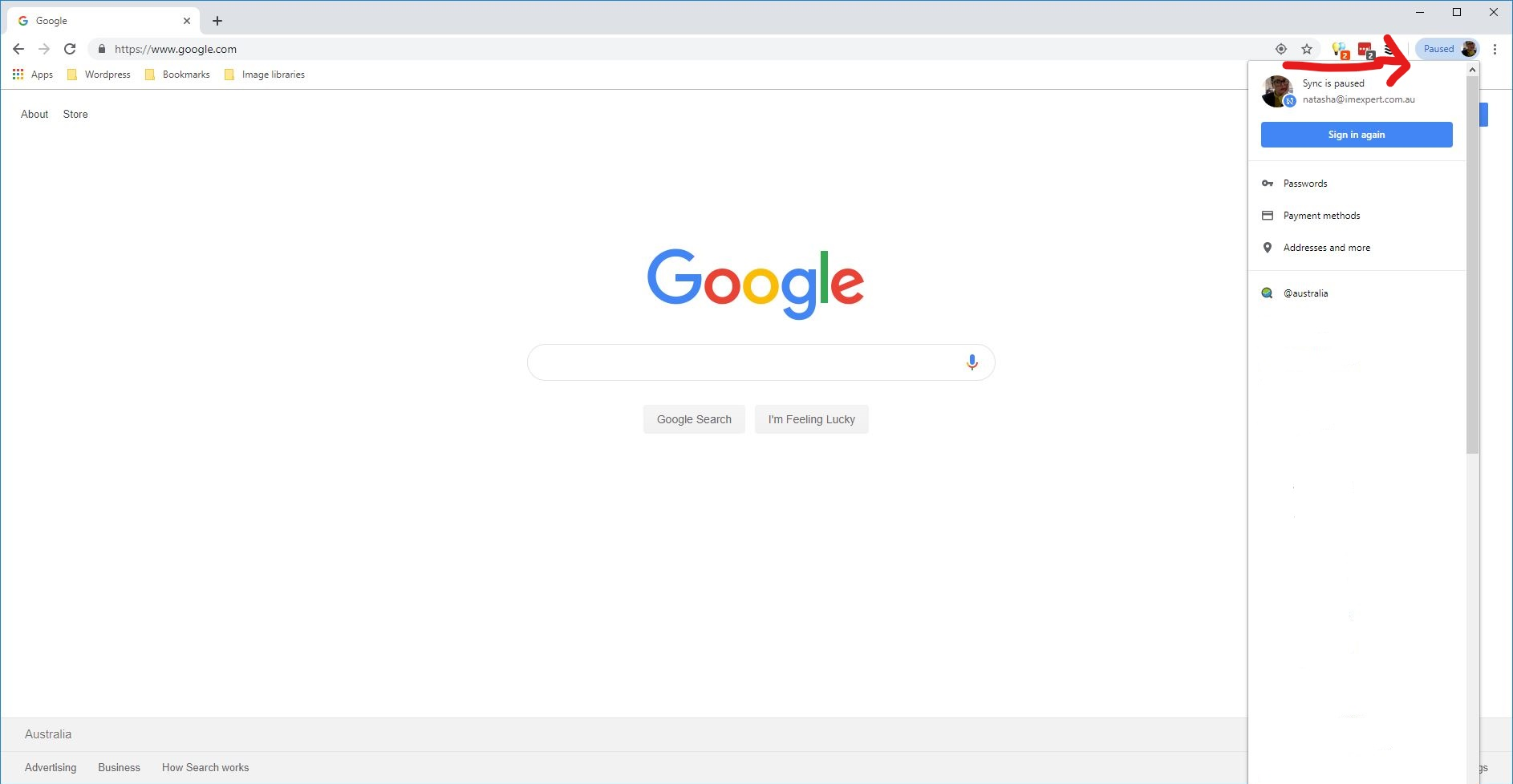 Sign In To Chrome 1